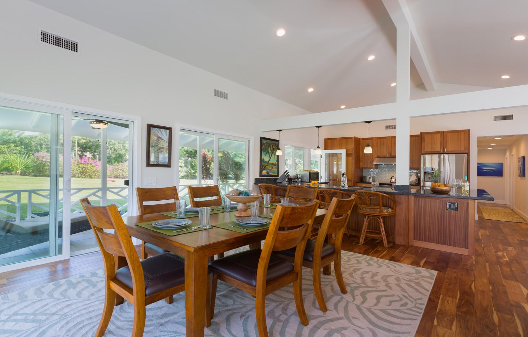 The open floor plan makes it easy for all to gather.