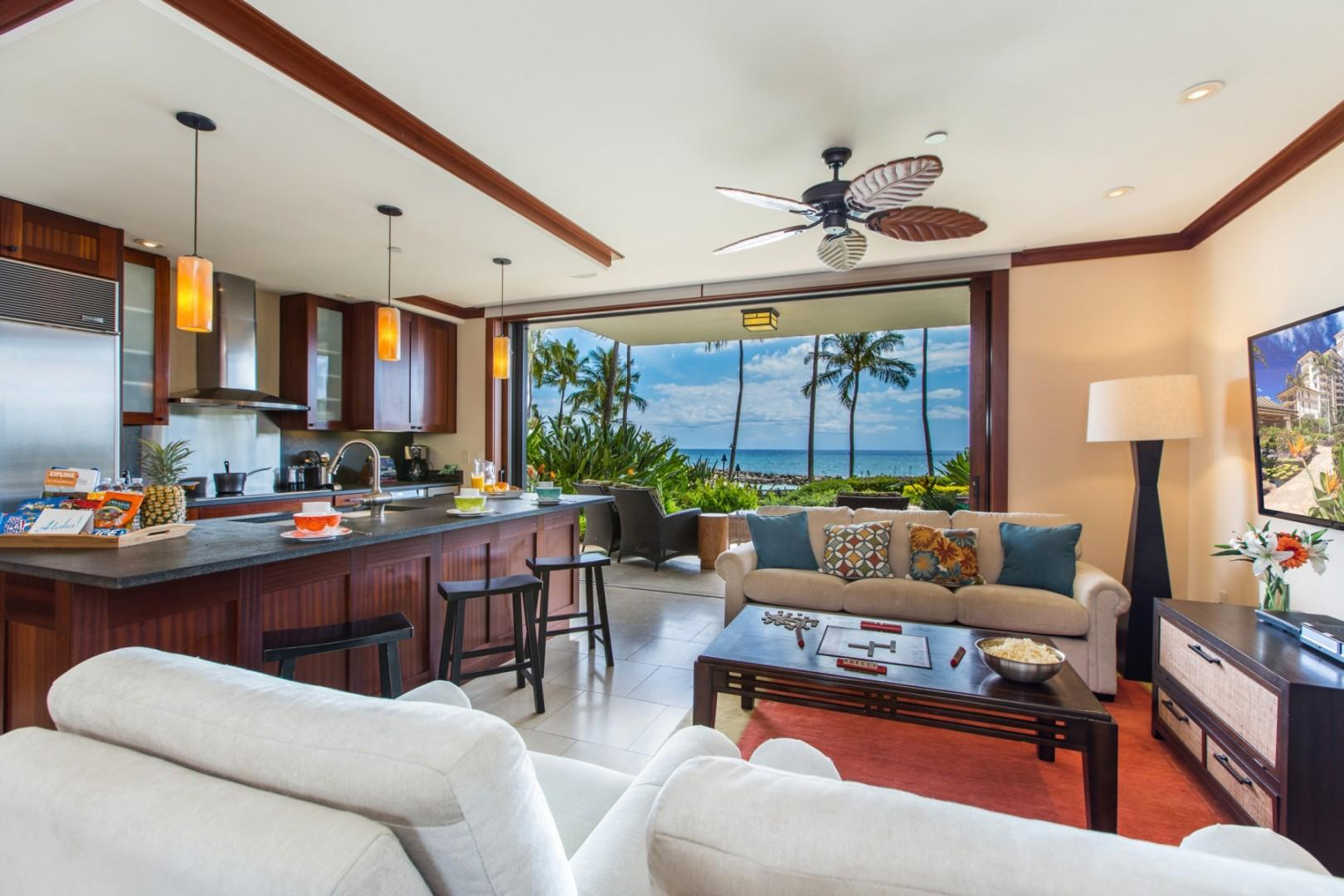 Garden, ocean and sunset views from the comfort of your luxury Villa