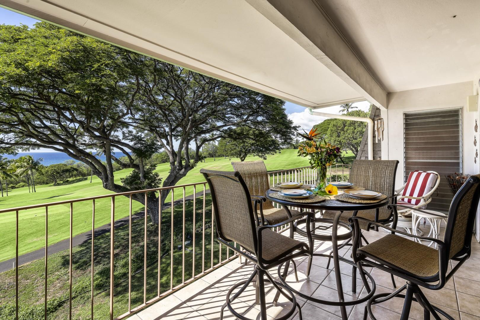 On the Lanai you'll find additional seating and a BBQ!