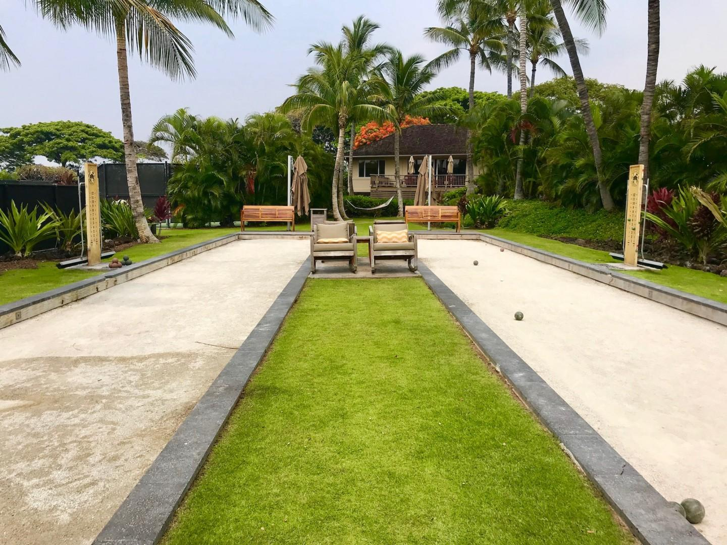 Four Seasons Resort bocce ball court.