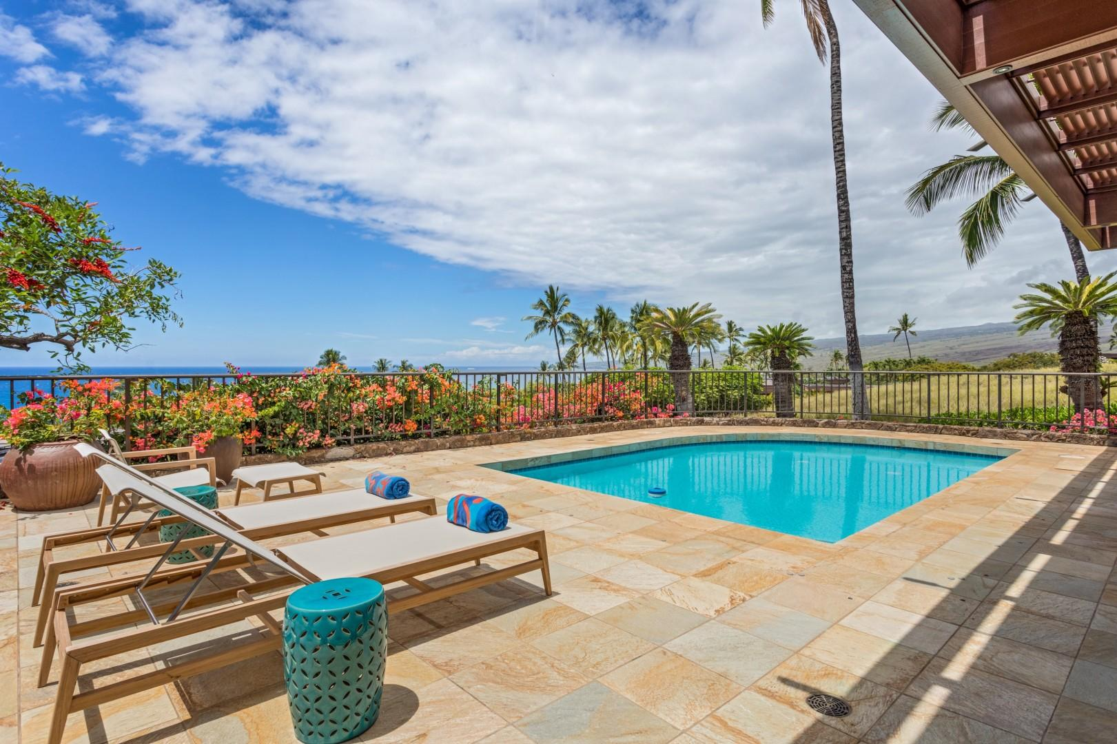 Enjoy Whale Watching (December-April) & Epic Views Year Round from the Generous Lanai & Pool Deck.