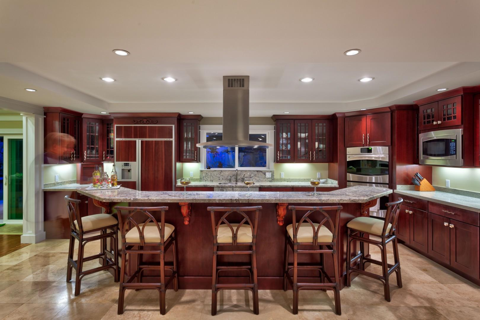 Cook up a delicious meal, all while entertaining in this open floor plan kitchen.
