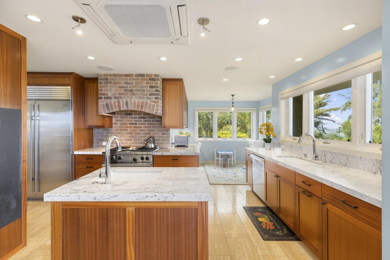Fully equipped kitchen with high-end appliances.