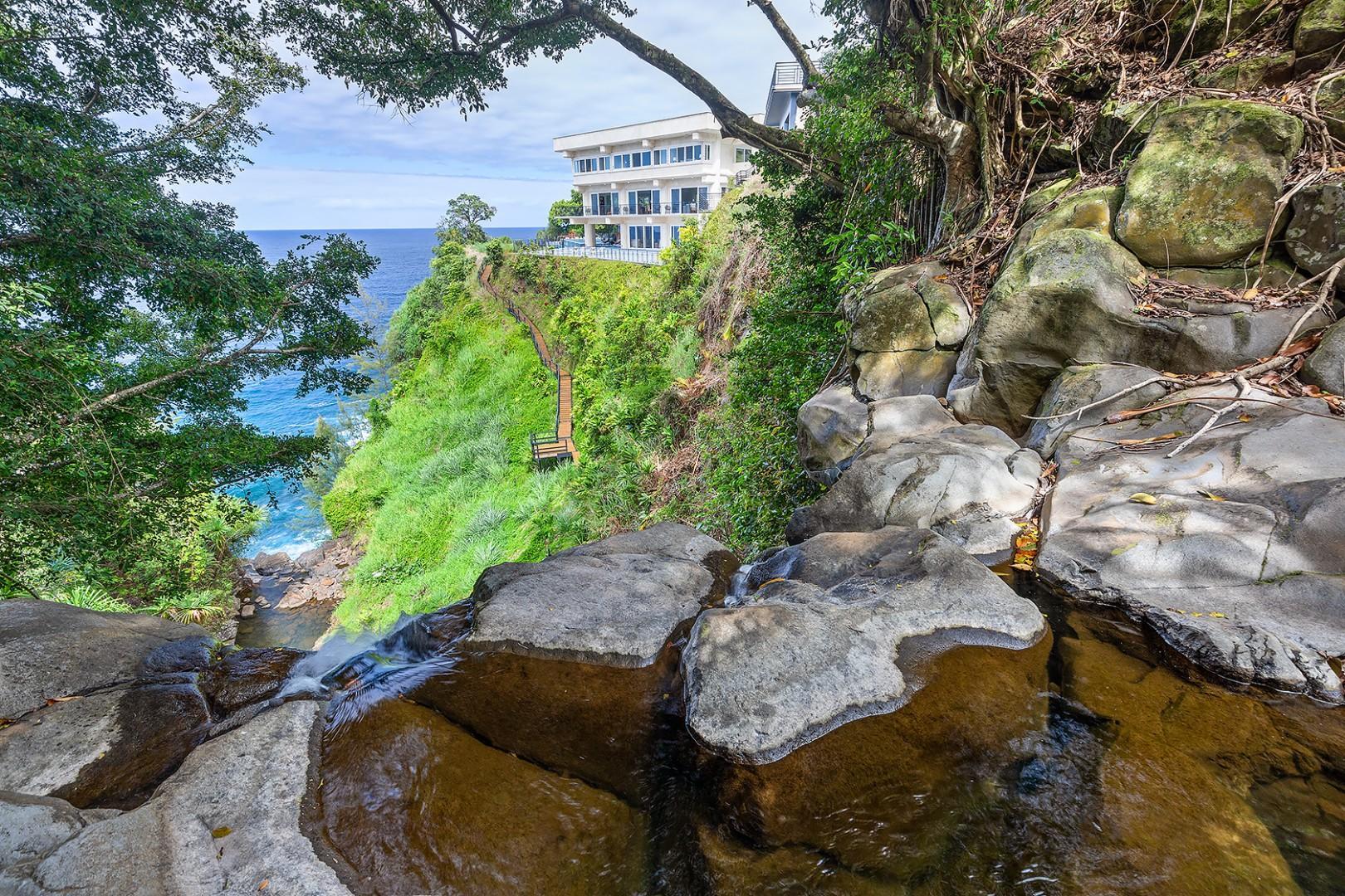 Waterfall Views and Waterfalling Estate