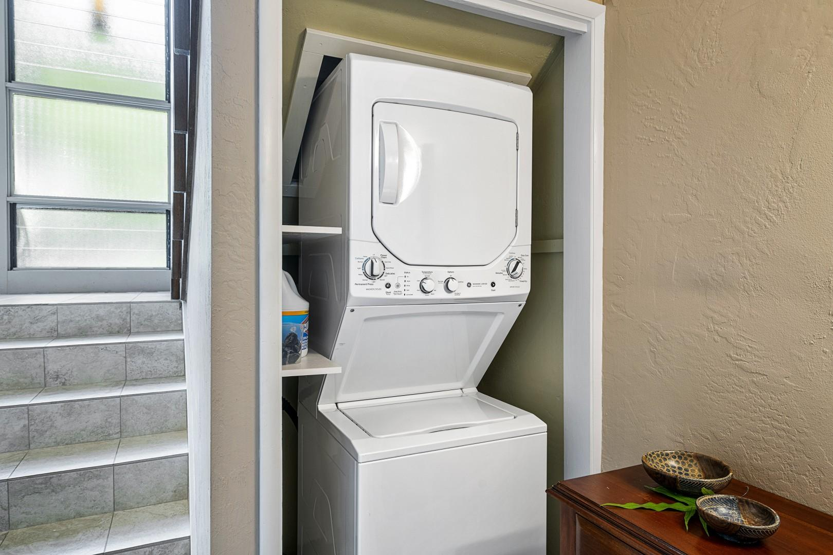 Full sized Washer / Dryer in the unit!