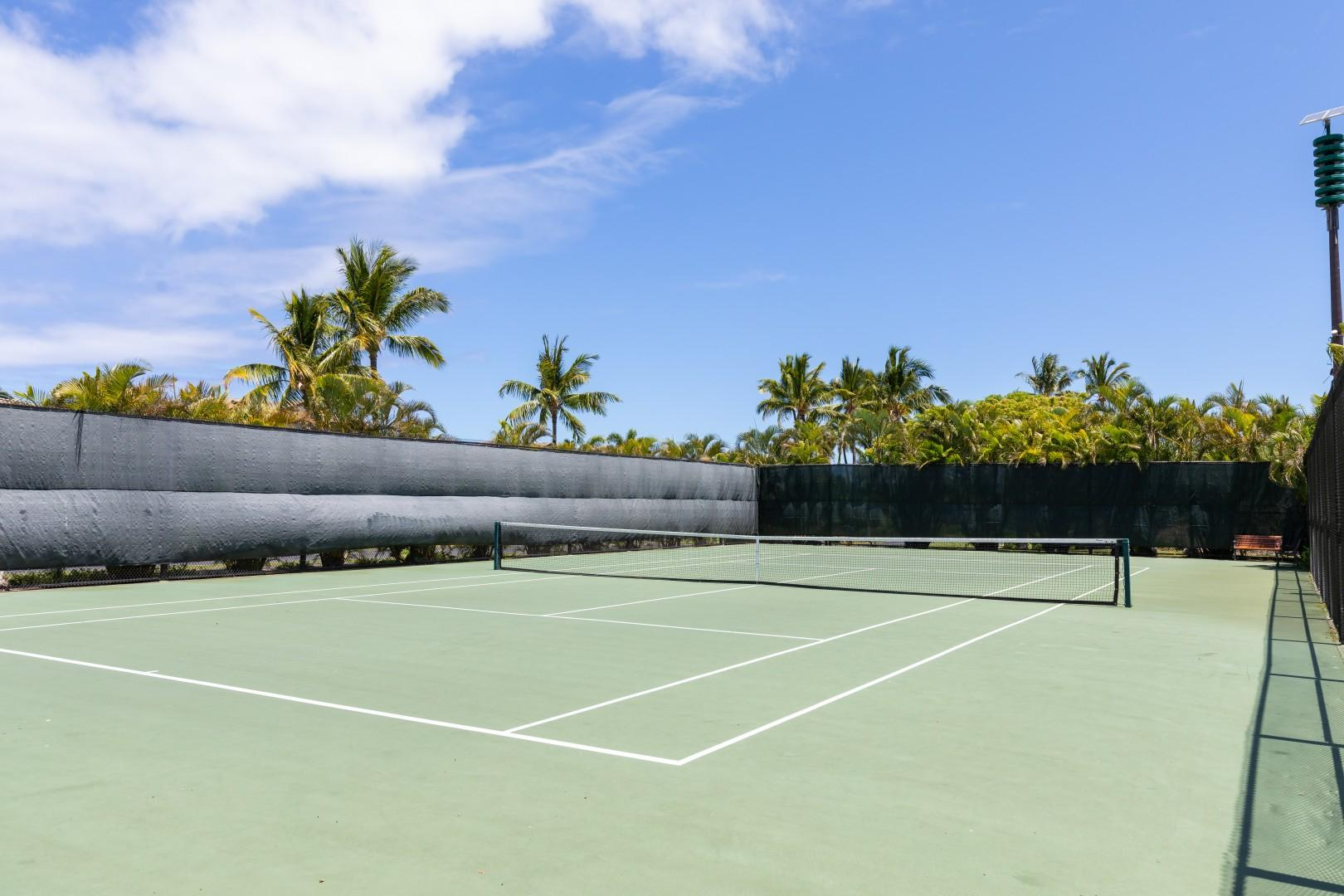 Bring your tennis outfit and gear and enjoy a rally on the complimentary tennis courts.