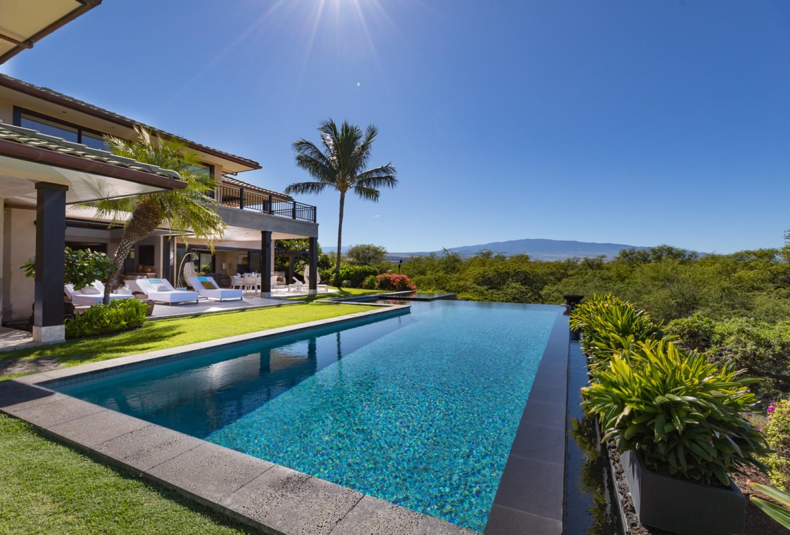 Plunge into the private pool