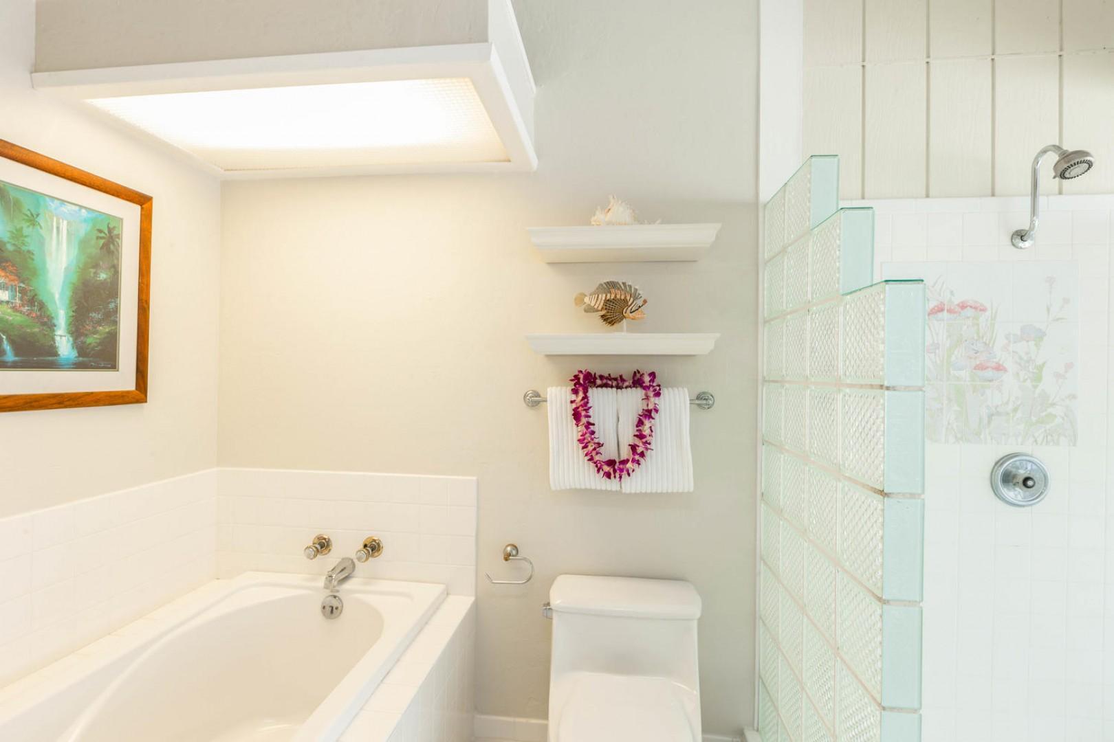 Enjoy a soak in the bathtub