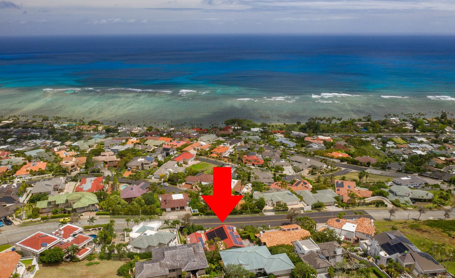 Located on the hillside of Hawaii Loa Ridge with beautiful views of the Pacific Ocean.