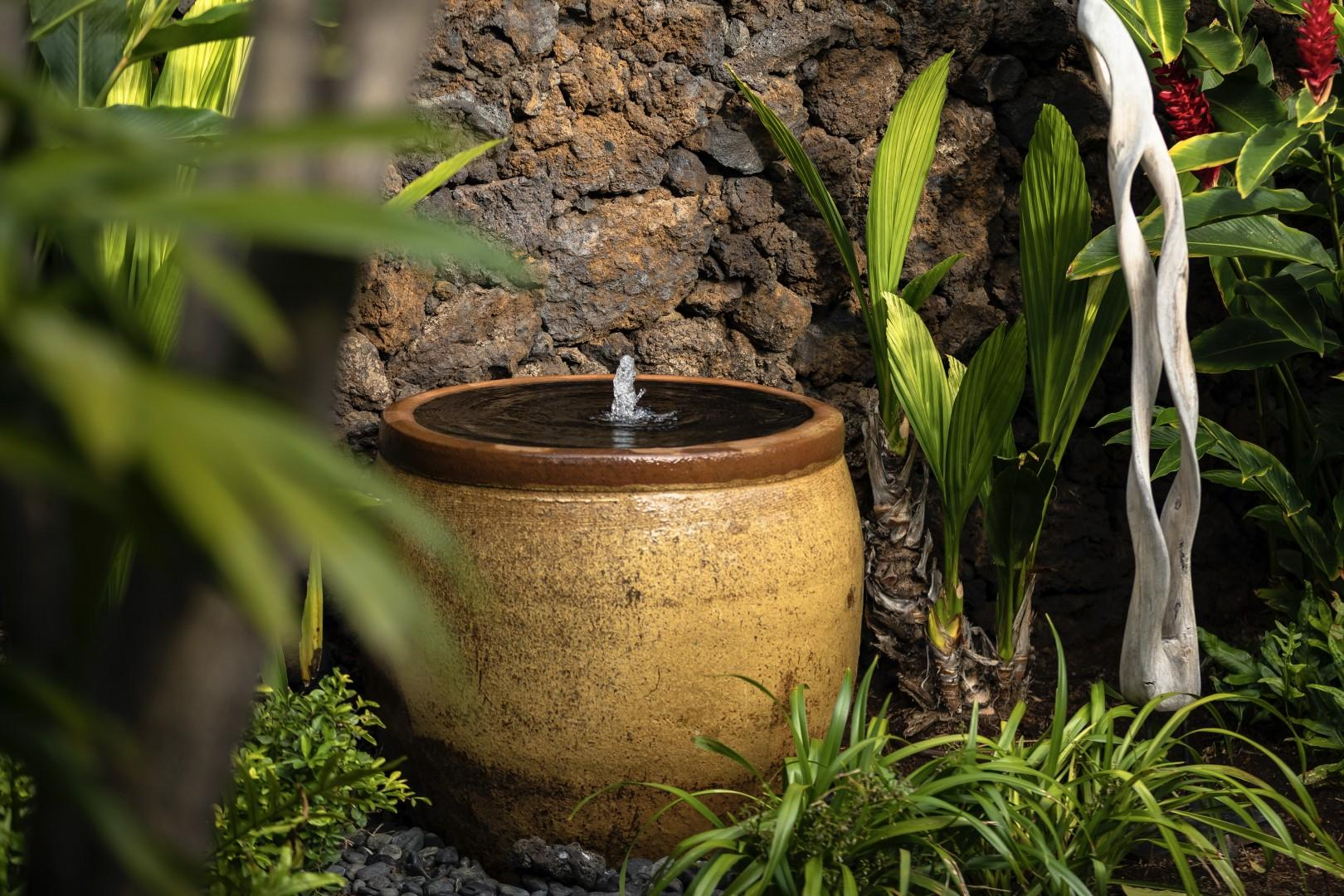 Water feature in private courtyard.