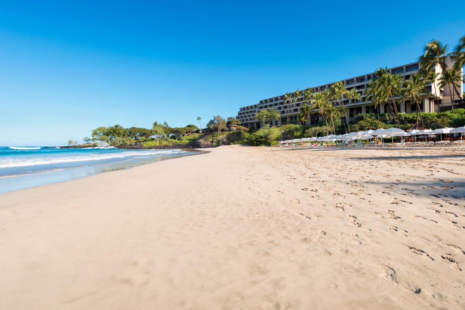 The famous Hapuna Prince Resort white sand beach. Five-minute drive from home.