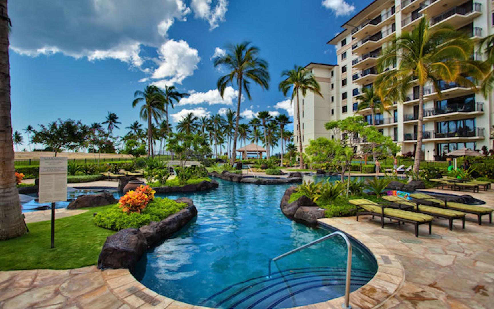 Lagoon Pool located between your villa and Lagoon 2