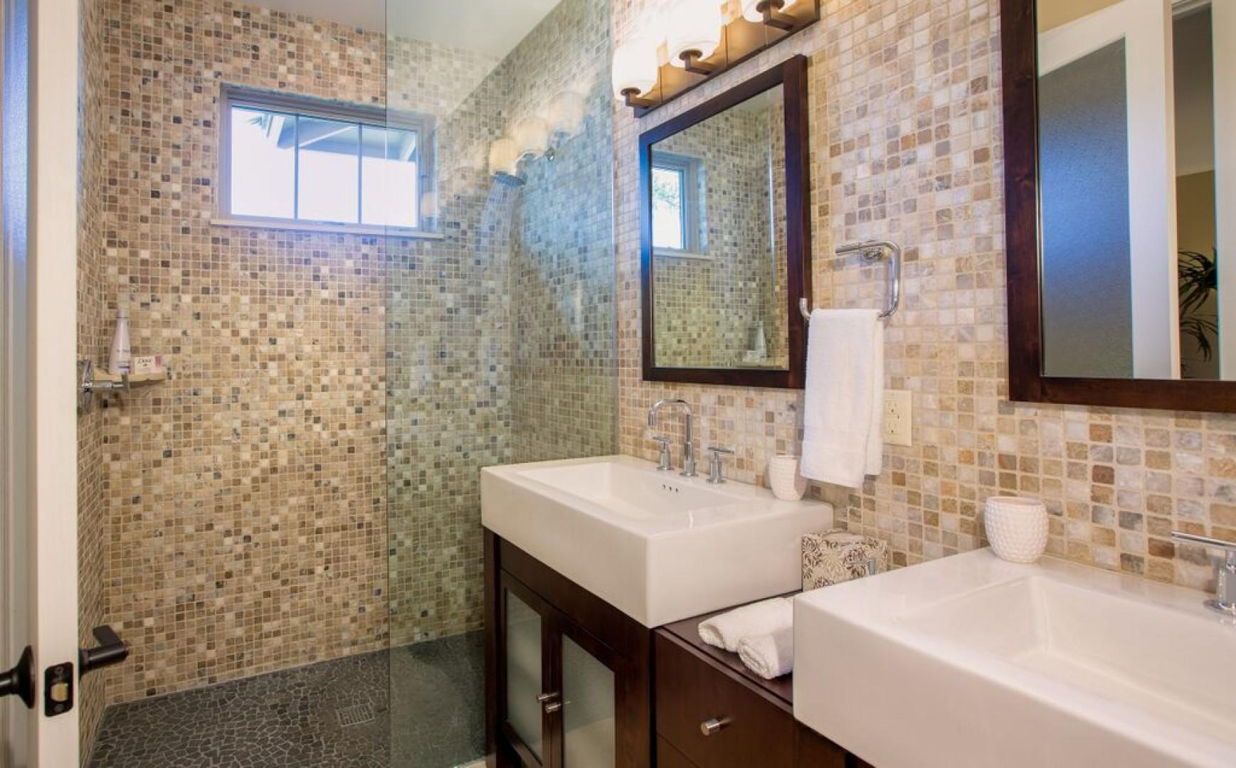 En suite bathroom for second master.