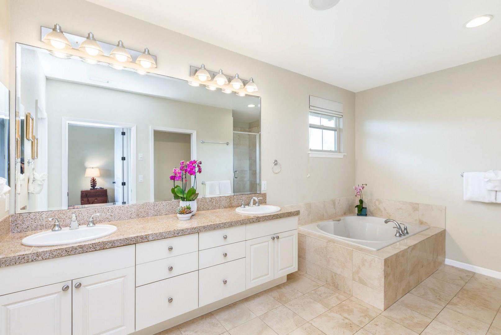Master Bathroom with Double Vanity Sinks
