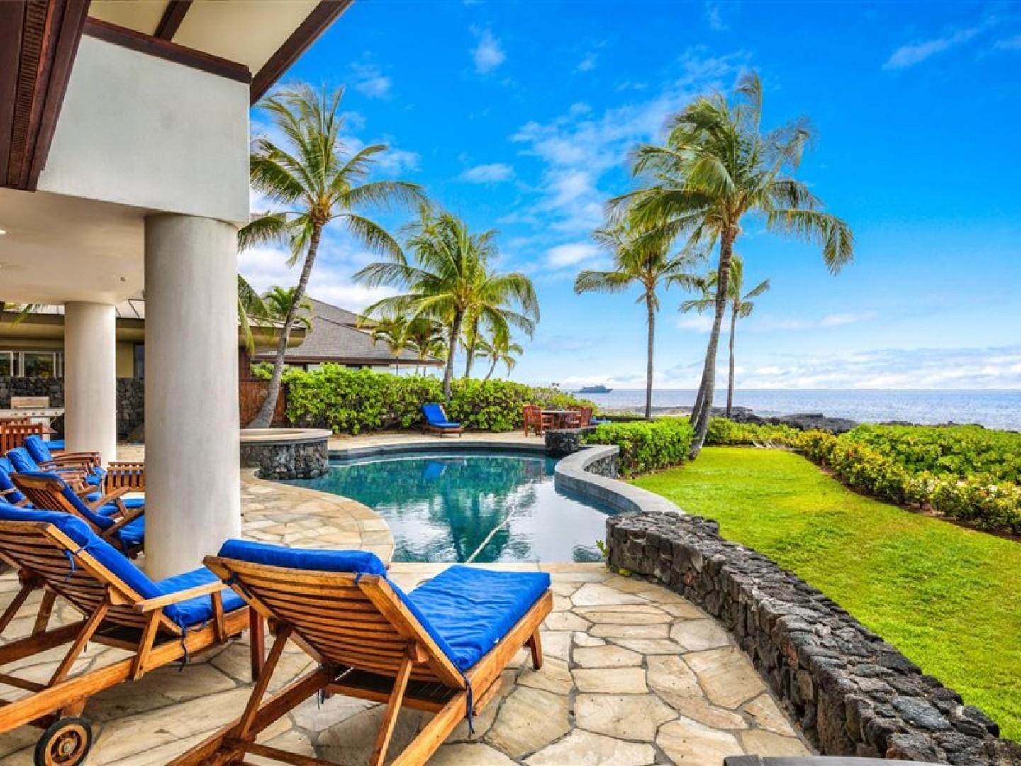 Watch the breathtaking sunsets right from your Lanai!