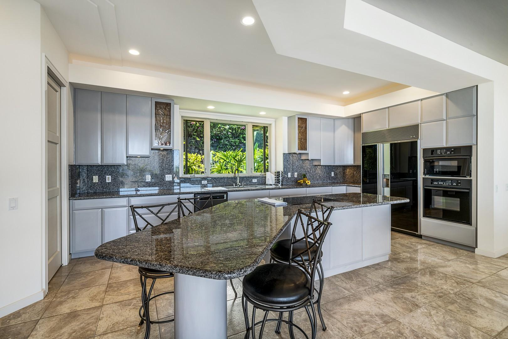 Large kitchen with great flow for meal preparation!