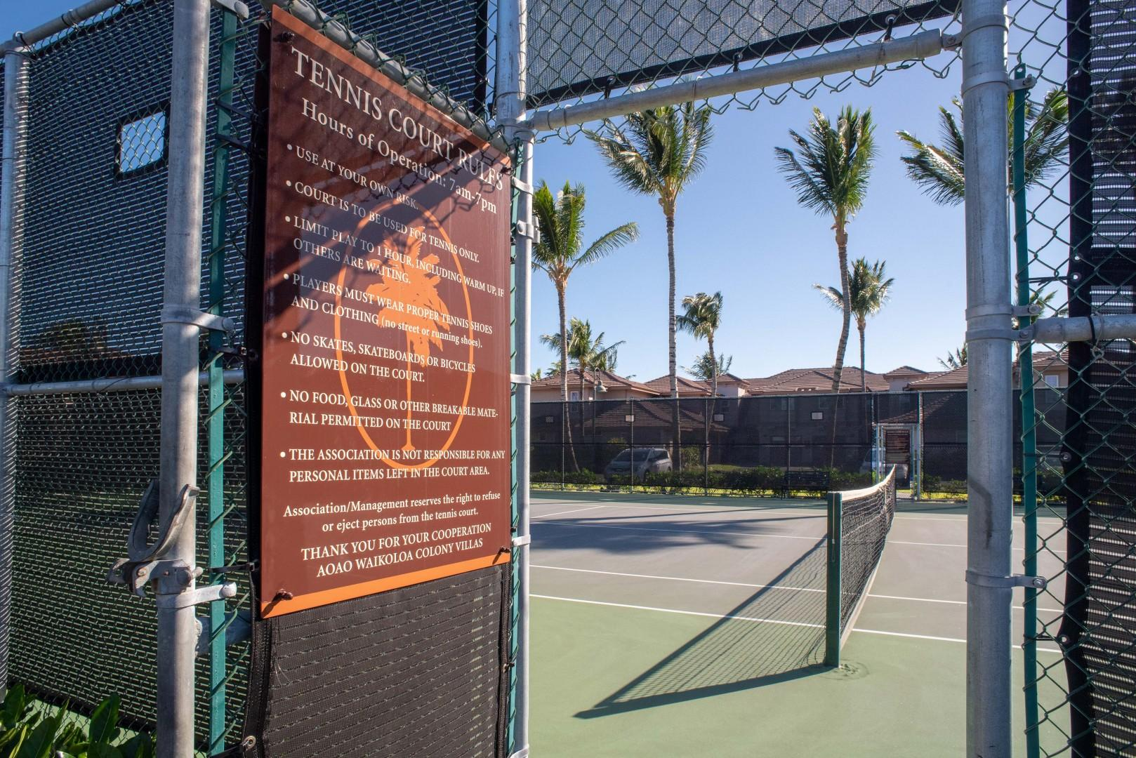 Guests Enjoy Free Access to Tennis Court