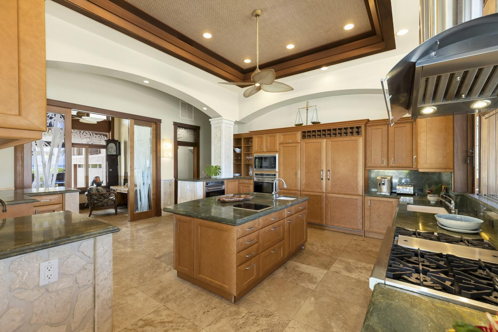 Kitchen is spacious with Gas Range and high end appliances