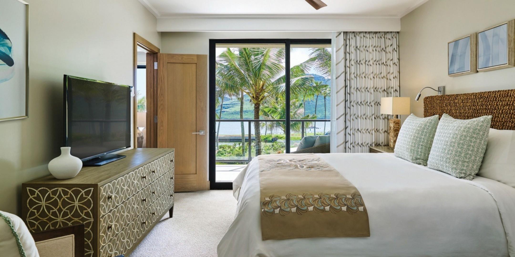 Spacious, luxurious bedrooms offer stunning ocean views.