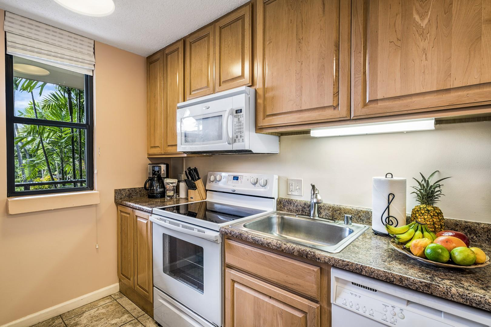 Upgraded kitchen with all the amenities you'll need.
