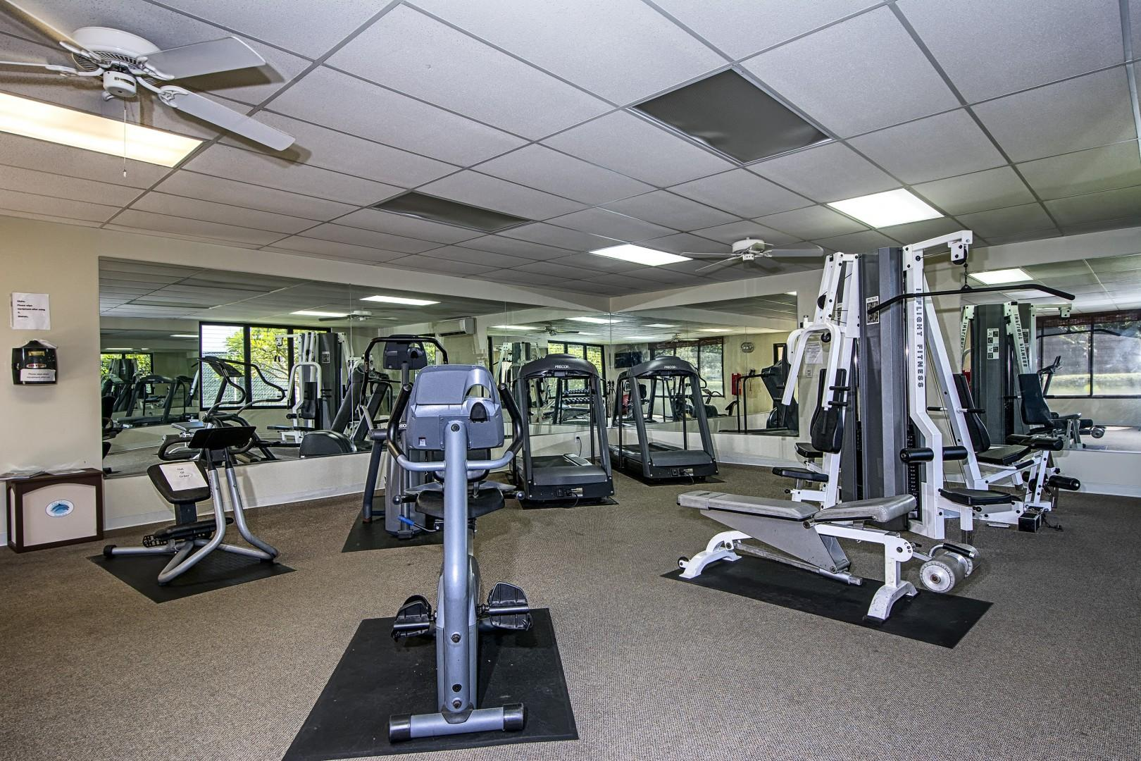 Fitness room on property