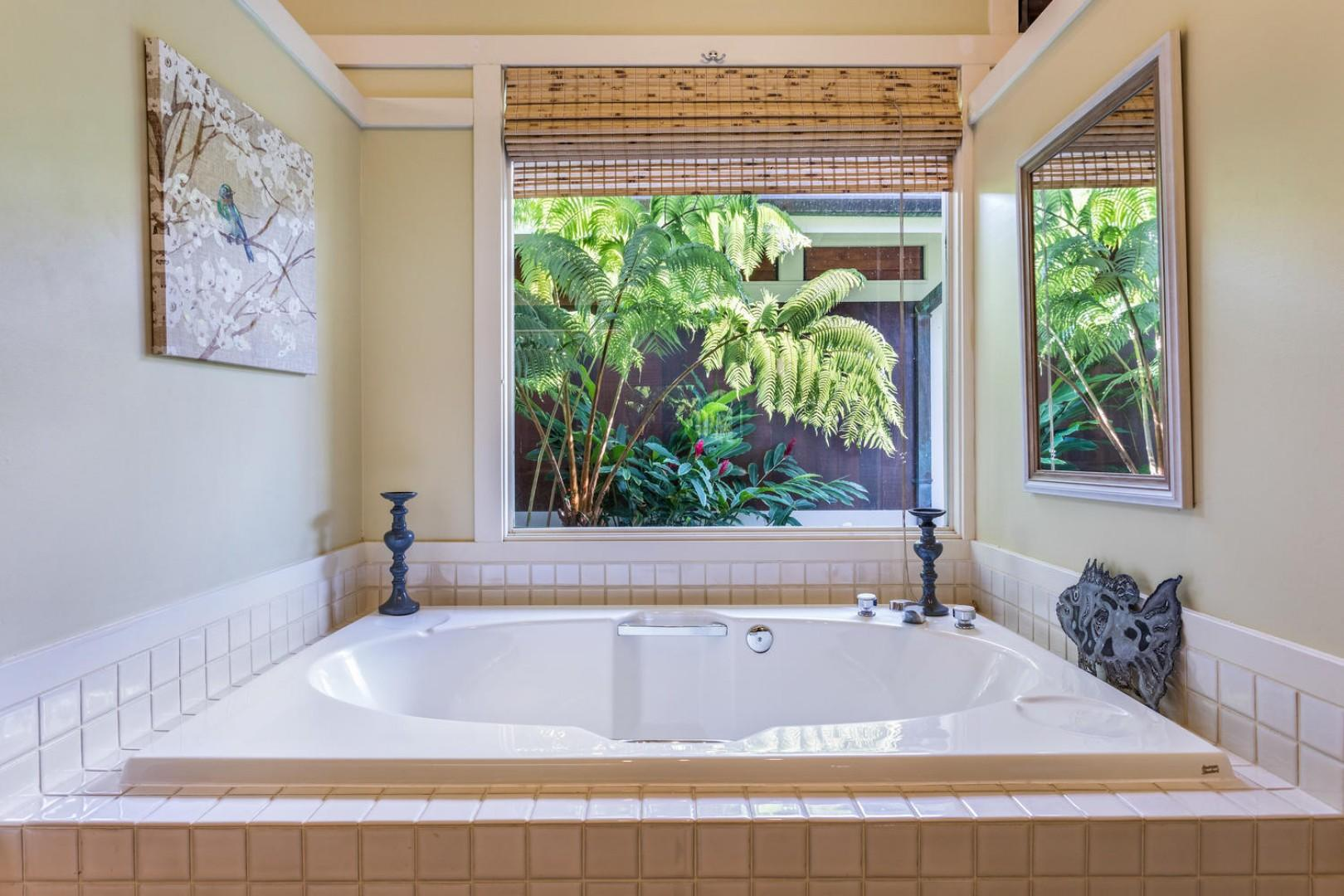 Master bathroom: Another great place to relax.