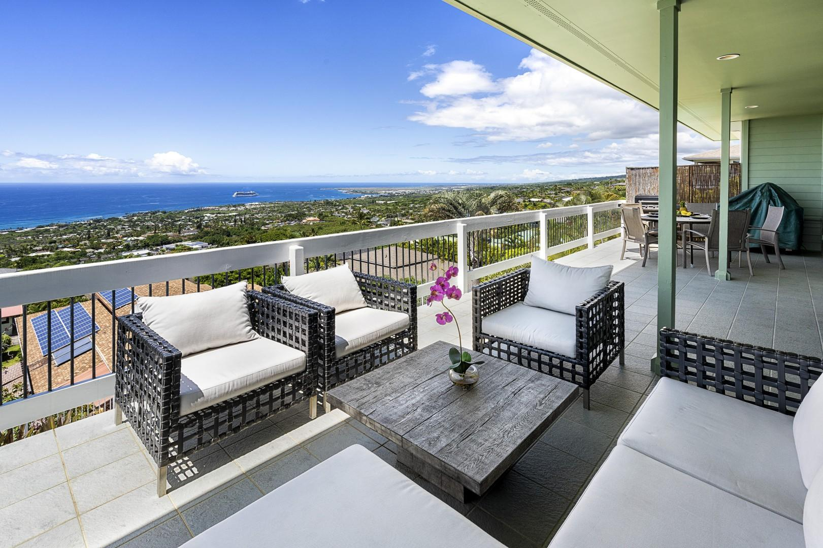 Enjoy time with your group on this private Lanai!