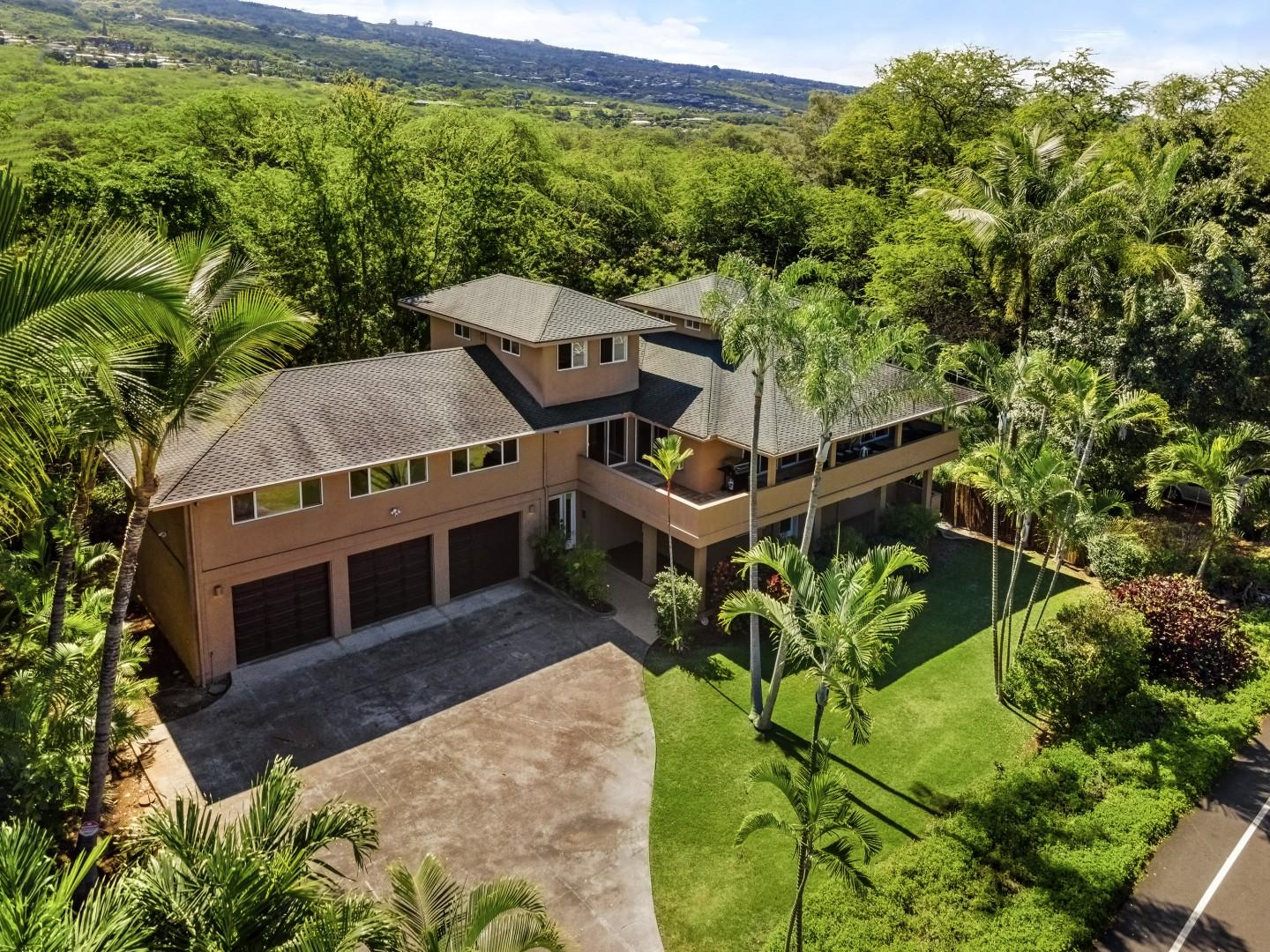 Aerial views of the home