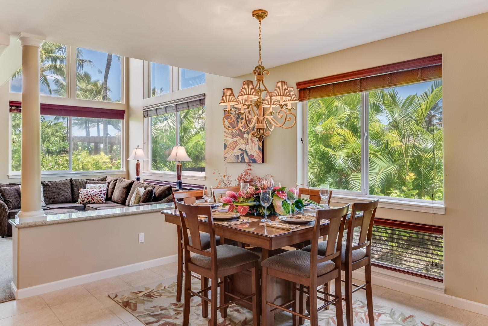 Enjoy Dining for Two to Eight w/ an Easy Flow to the Kitchen and Living Room