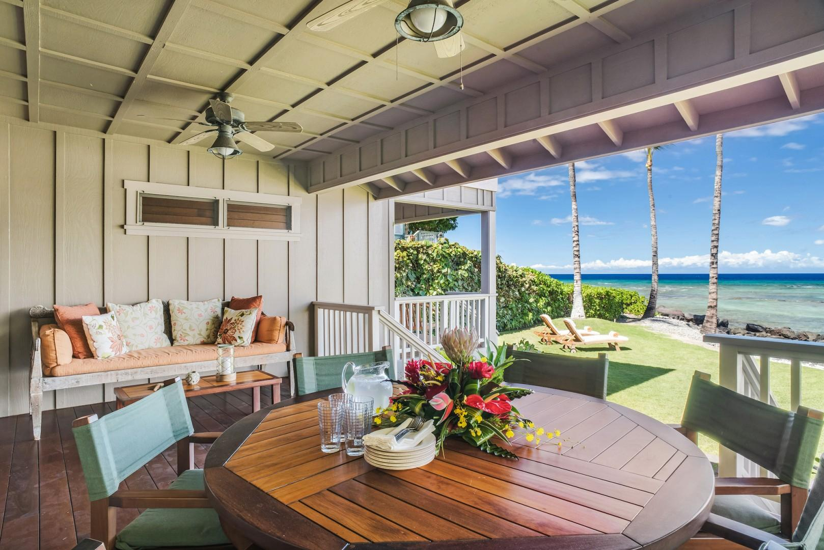 Main Lanai Off Living Room, an Ideal Spot to Gather, Dine and Relax