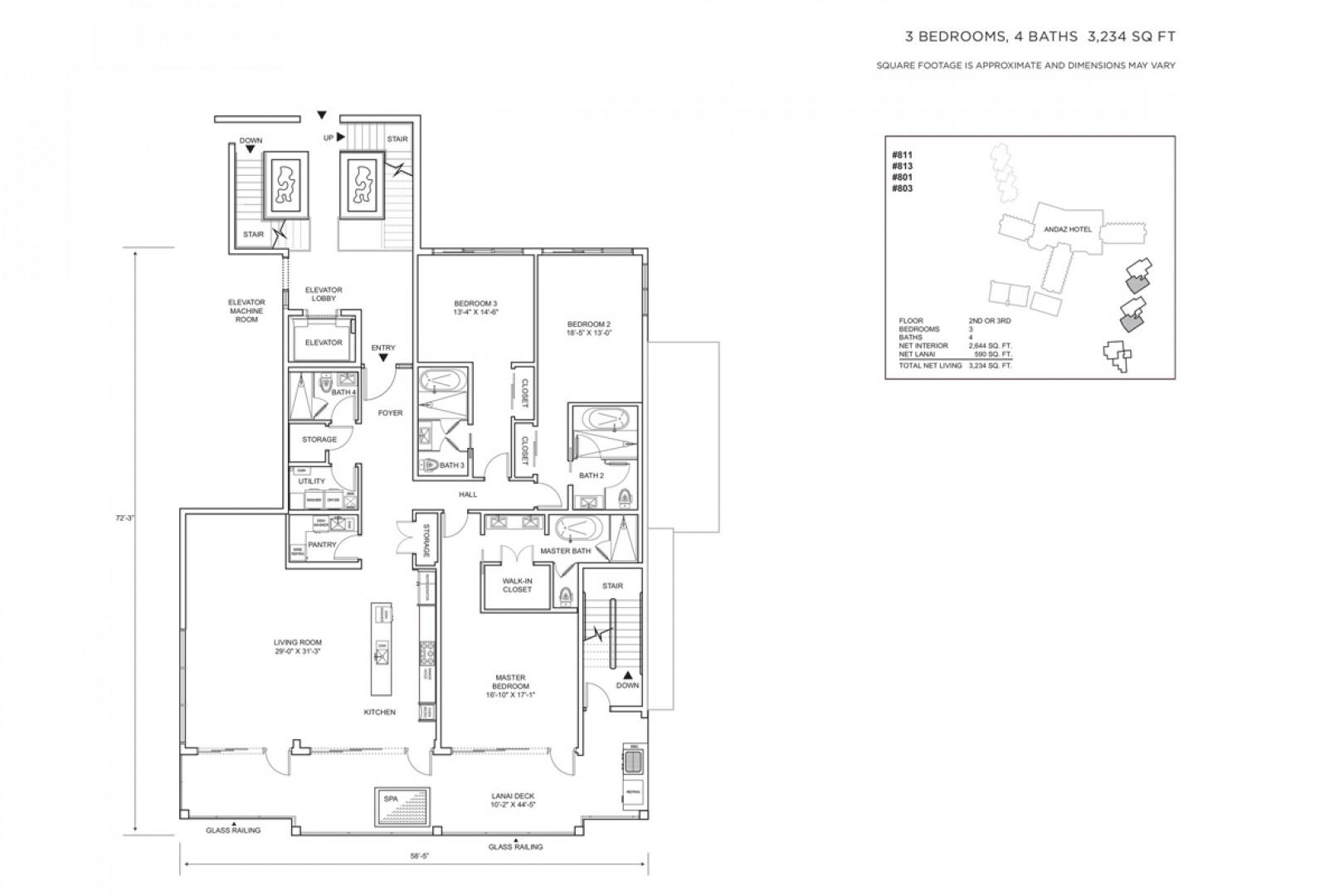 SeaSpirit Villa 811 Floor Plan