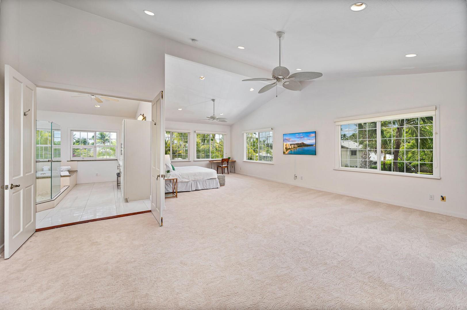 Grand master suite…more furniture to come!