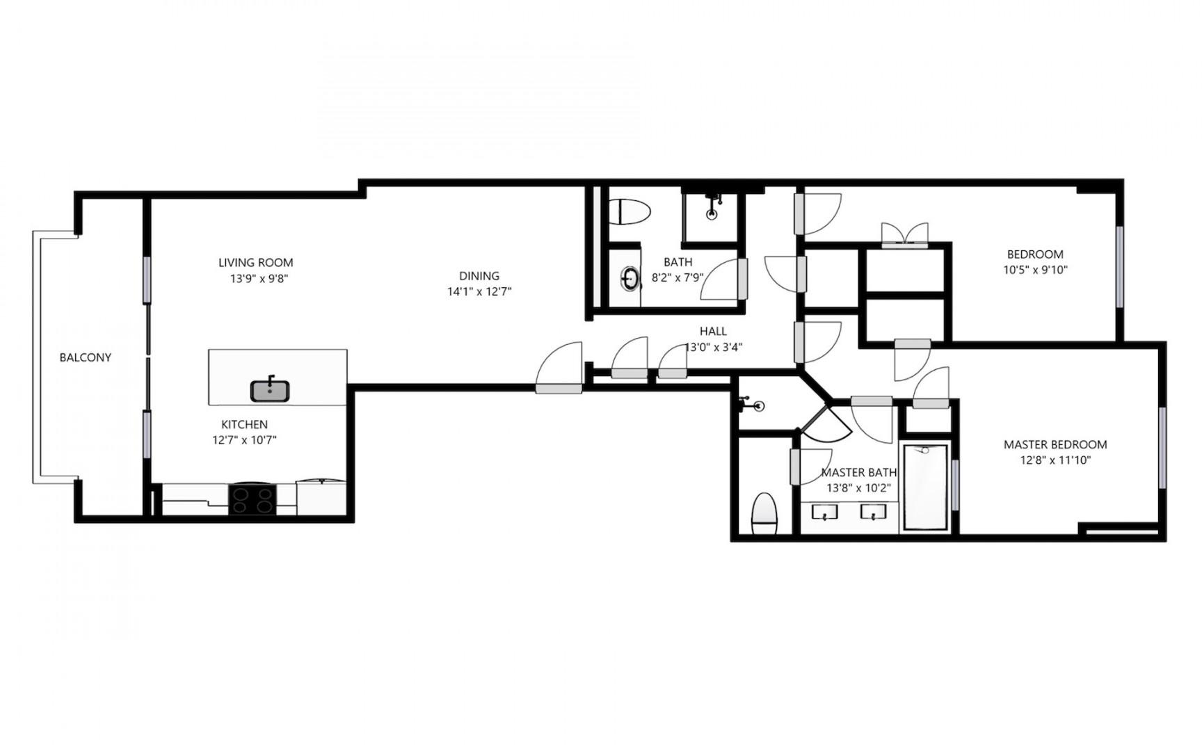 Floor plan overview with lanai facing west and bedroom windows facing east