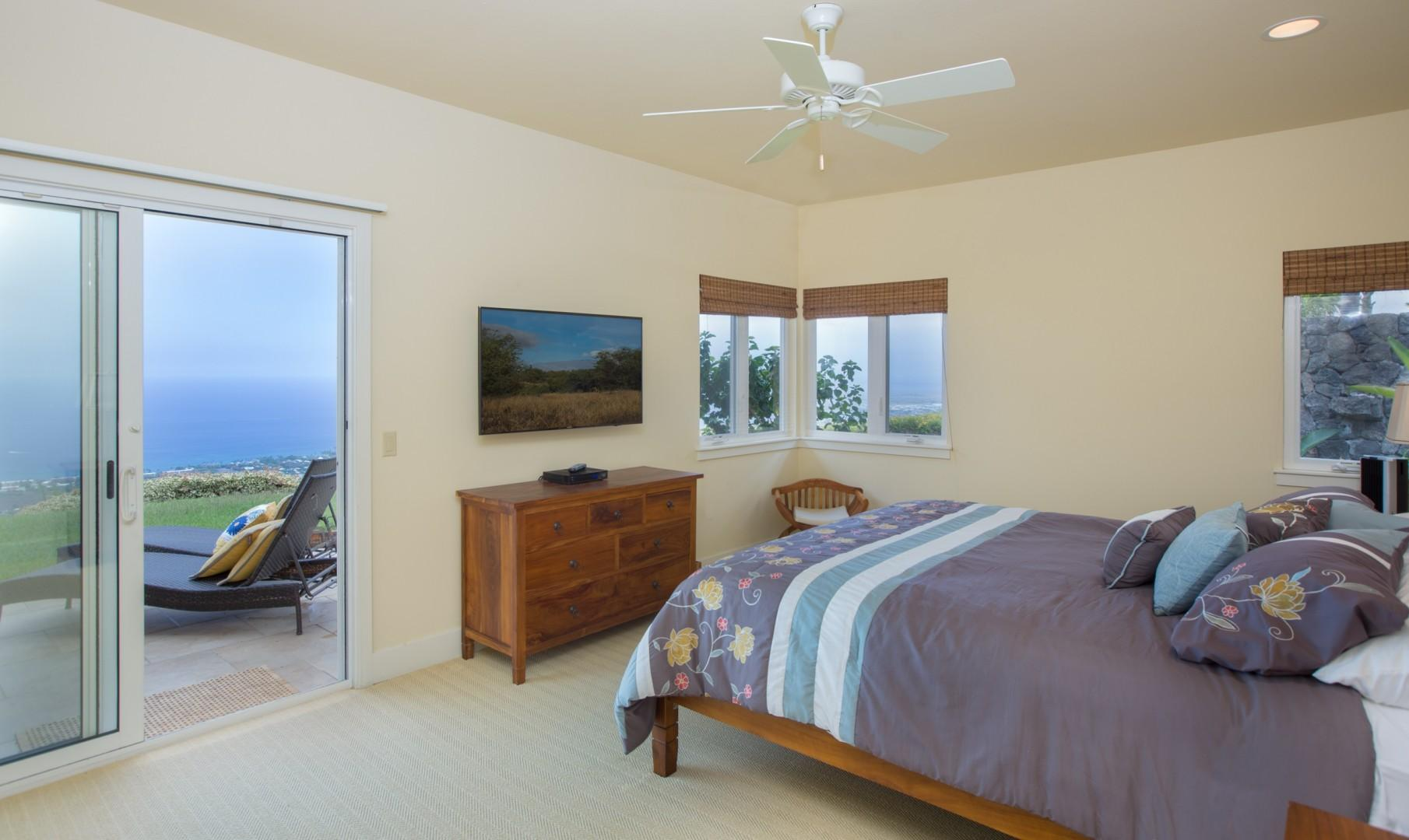 Spacious Master Bedroom with unbelievable views