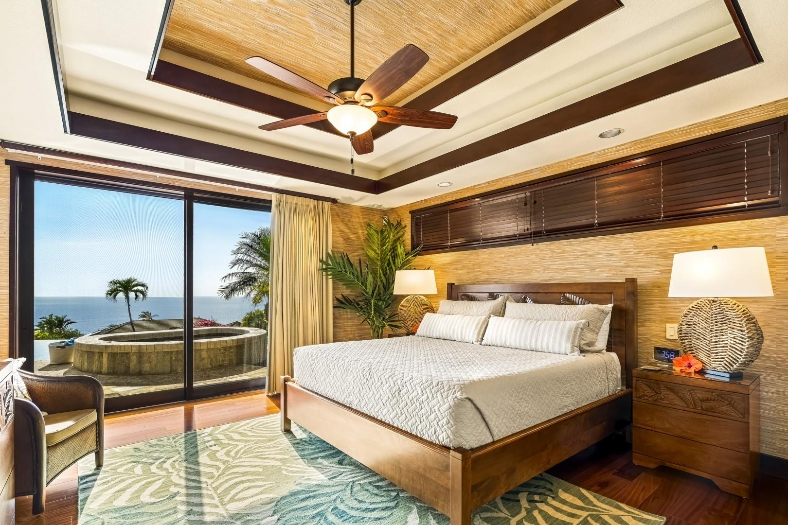 Master bedroom equipped with King bed, A/C, Lanai access and TV