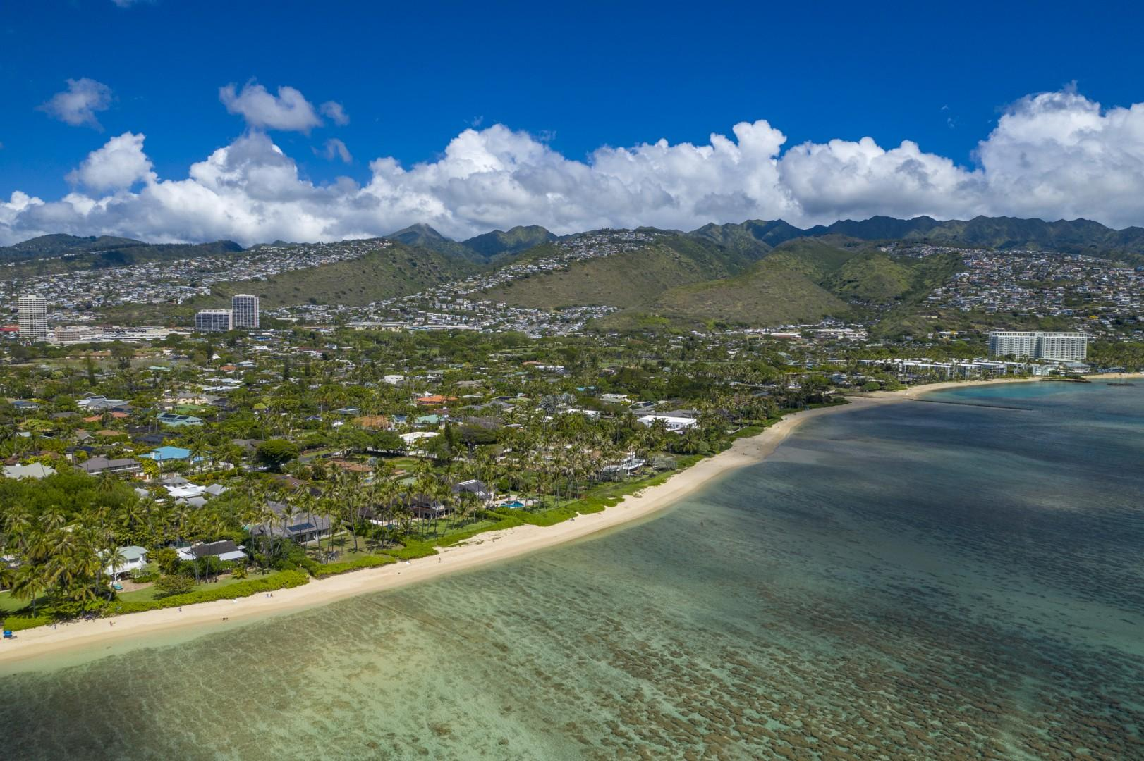 Walk or drive to the Kahala Hotel in only a few minutes