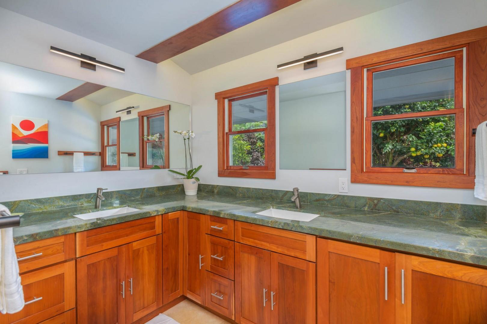 Dual sinks and plenty of counter space