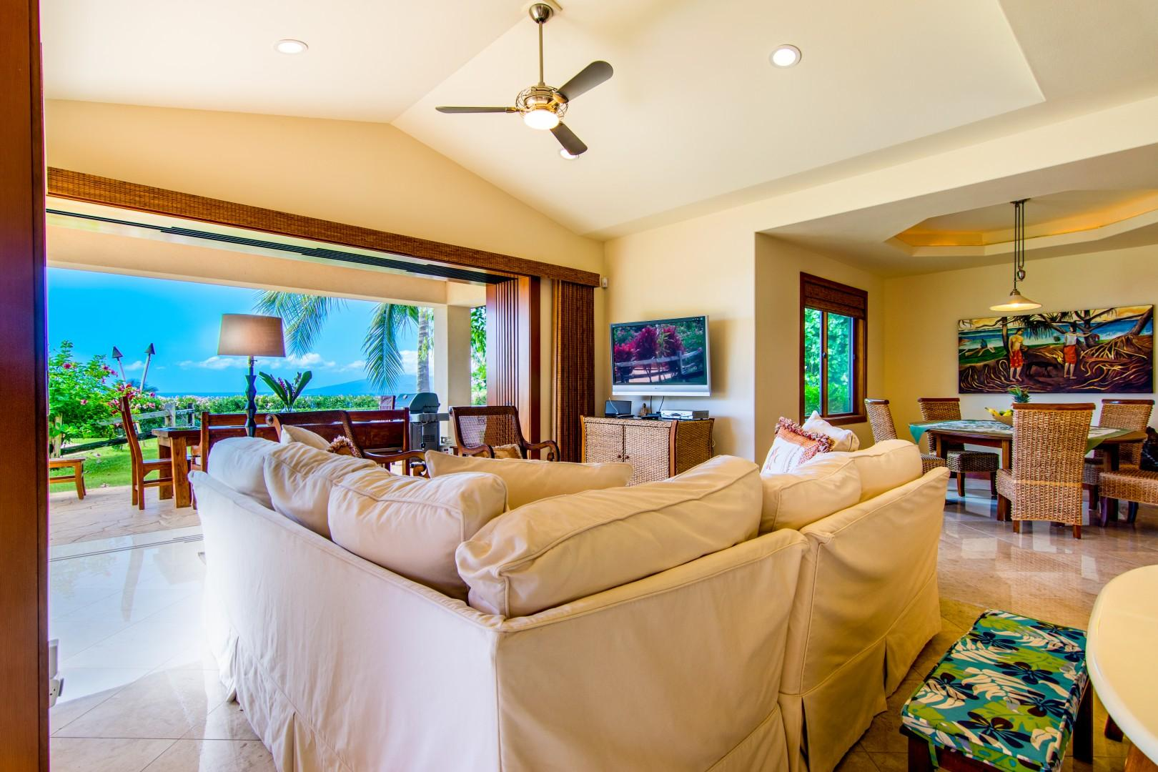 Living and Dining Room with Views