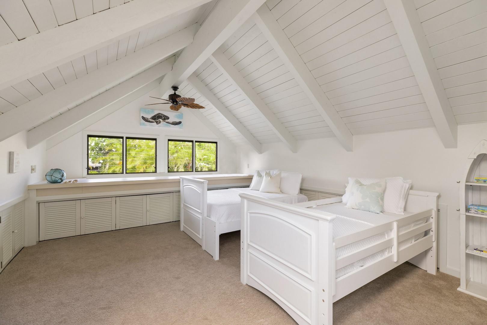 Upstairs Loft Bedroom with Ensuite Bathroom