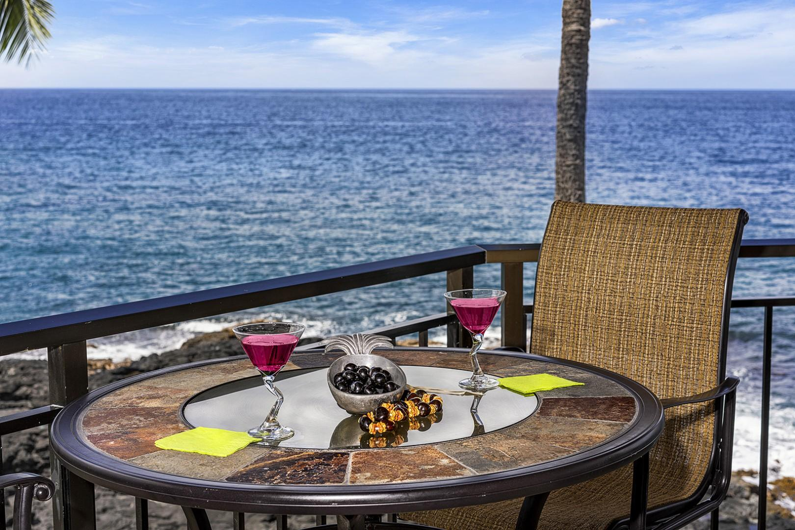 Another dining option on the wrap around Lanai!