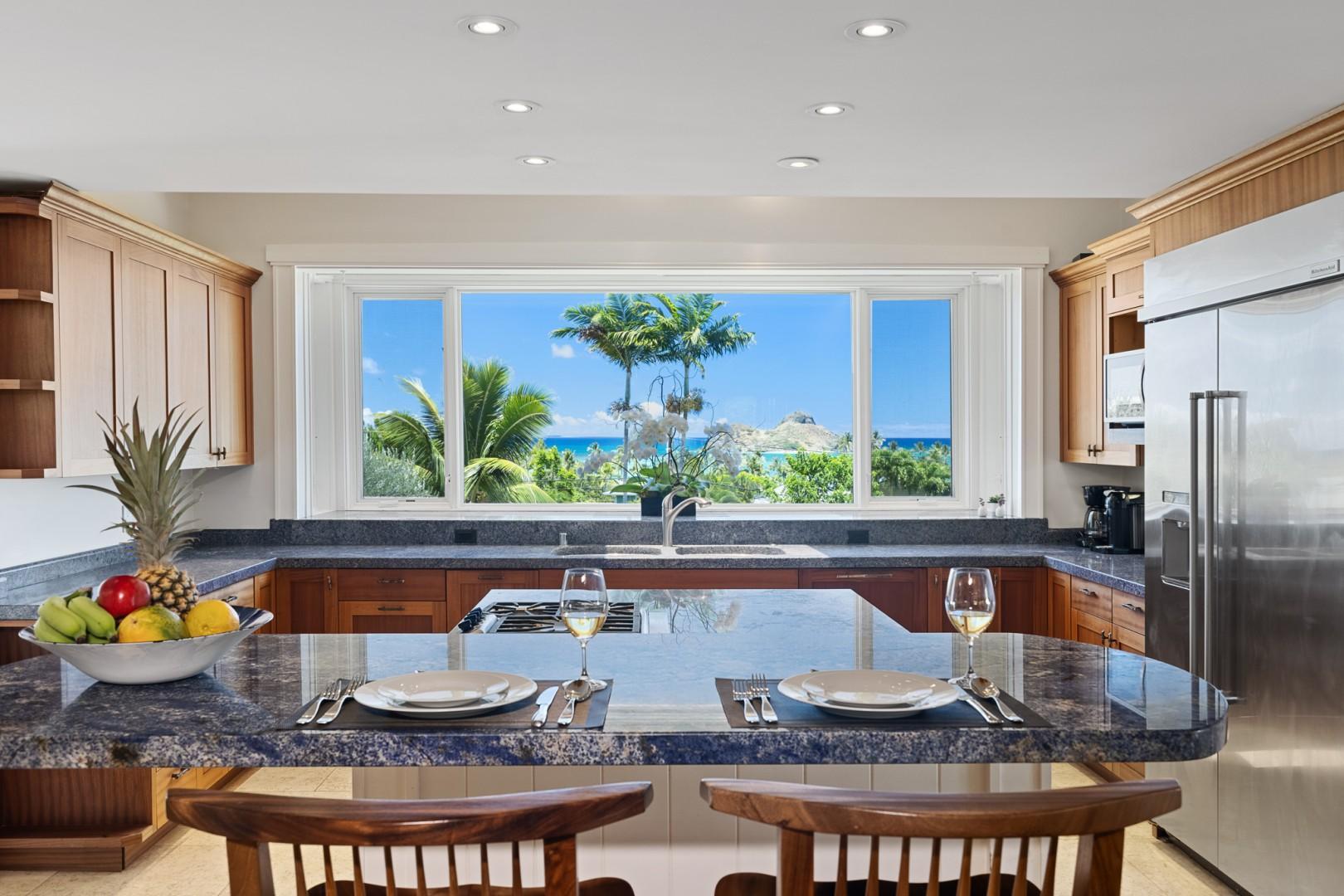 Kitchen Breakfast Bar Ocean View