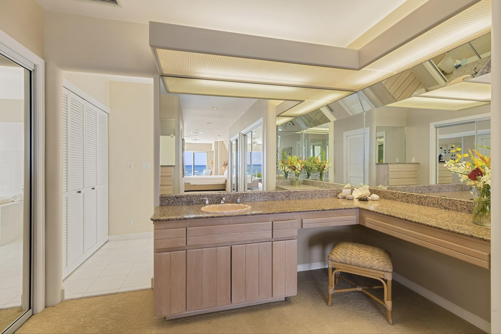 Master Suite Bathroom with vanity.