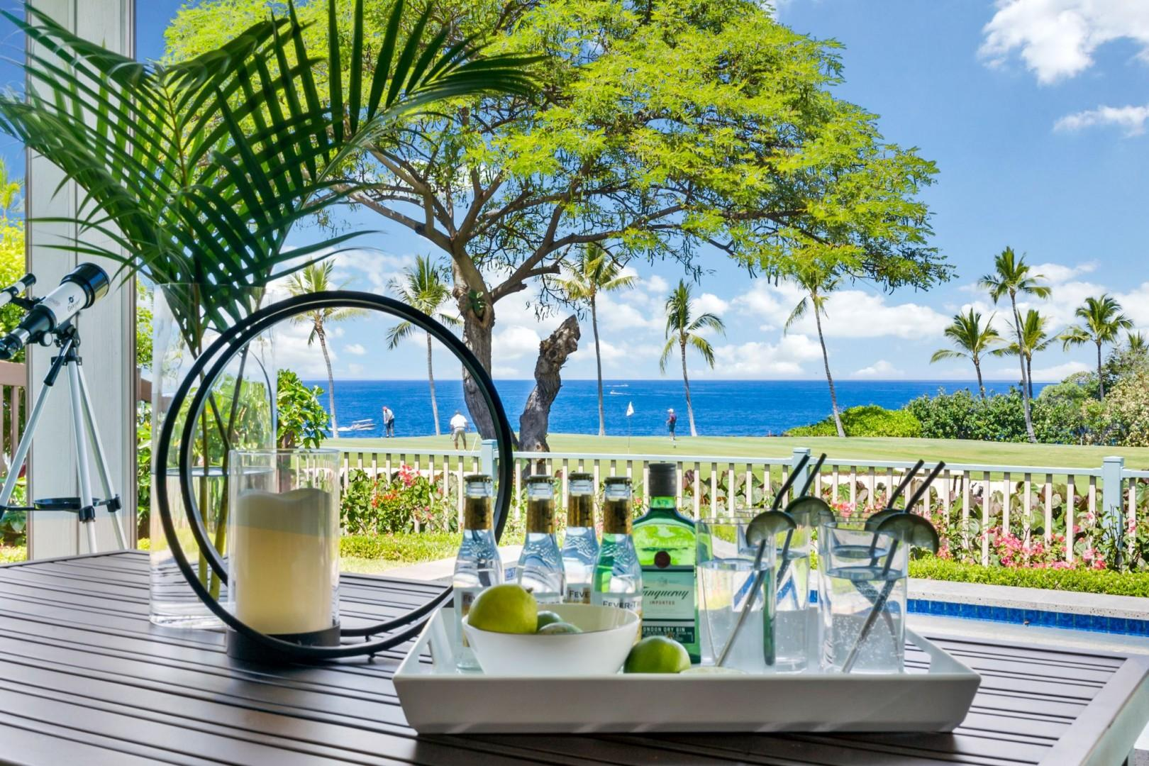 Holua Kai #27 offers the perfect setting to enjoy a cocktail of your choice!