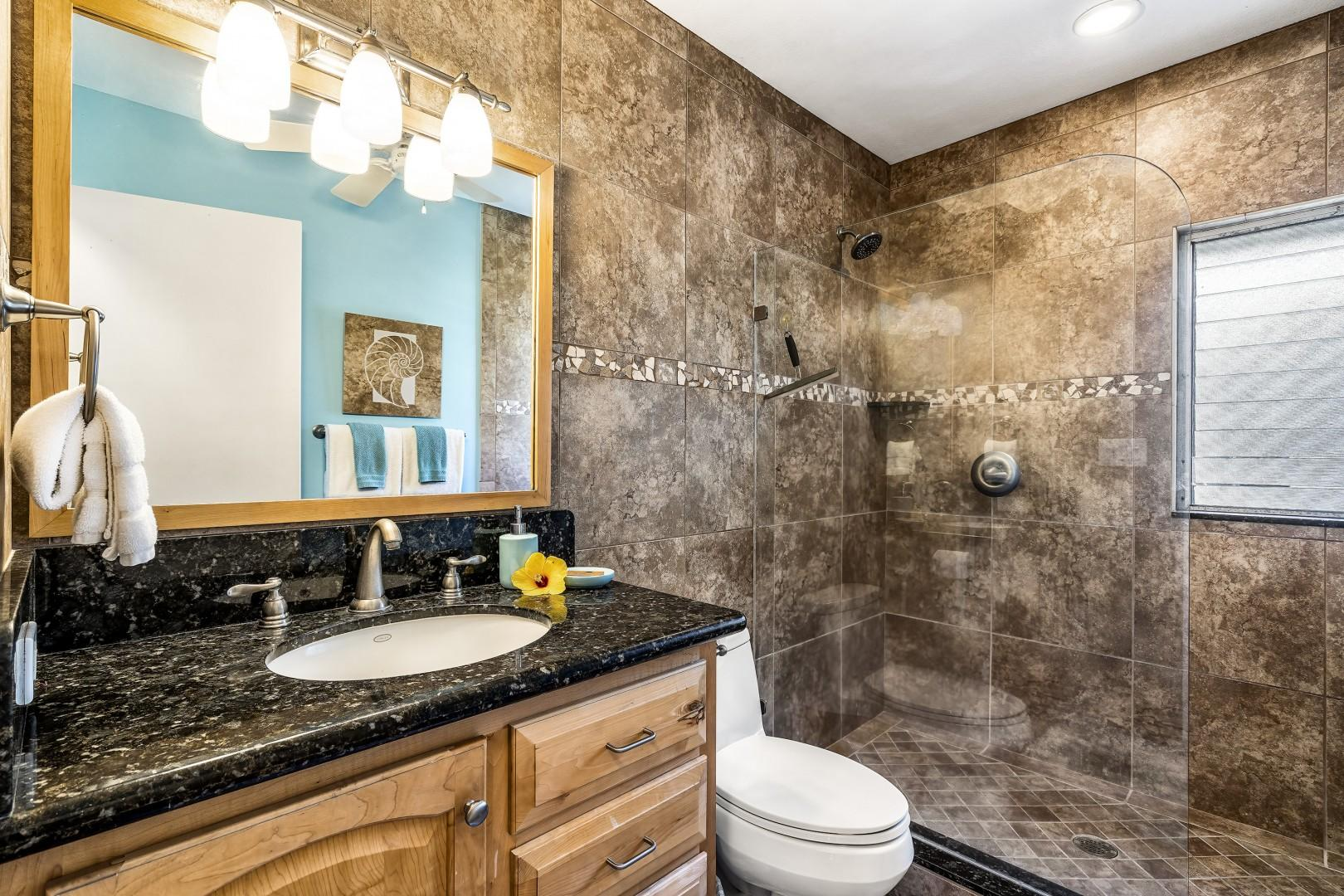 Fully renovated guest bathroom