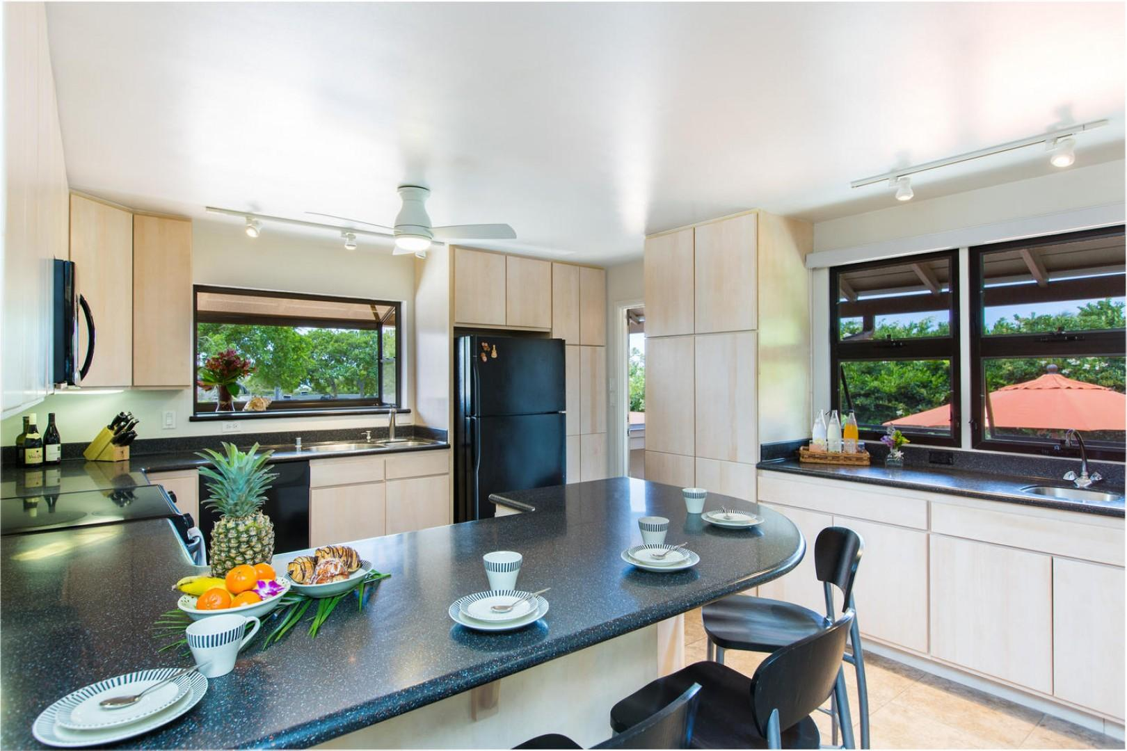 Kitchen, conveniently located near the outdoor patio and dining room.