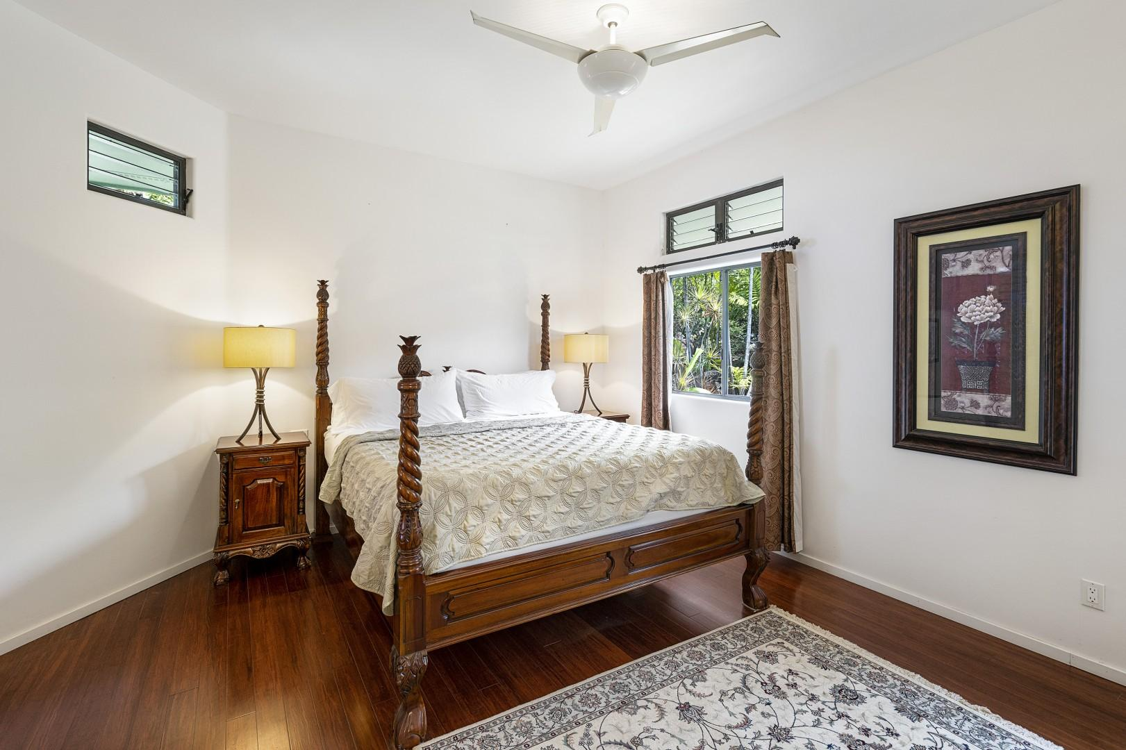 Master bedroom on the main floor equipped with King bed!