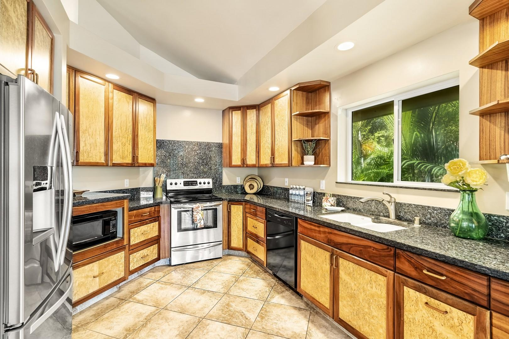 Upgraded kitchen for all your meal preparation needs