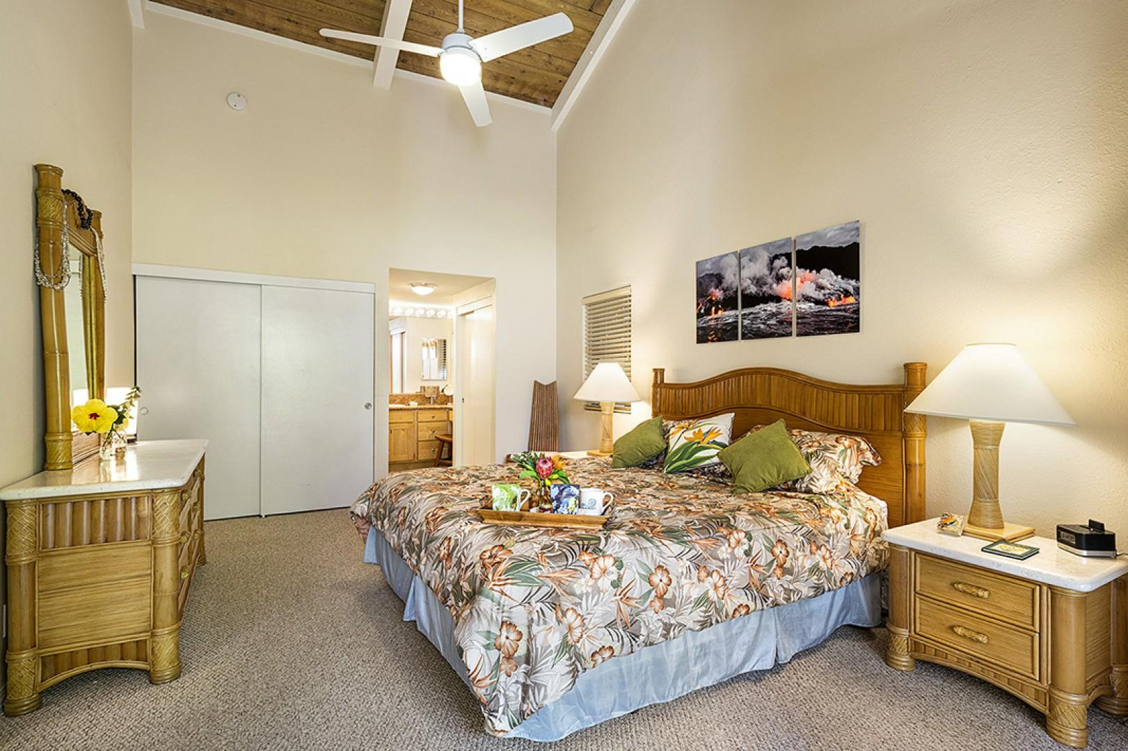 Enjoy waking each morning in this Beautiful Master bedroom!