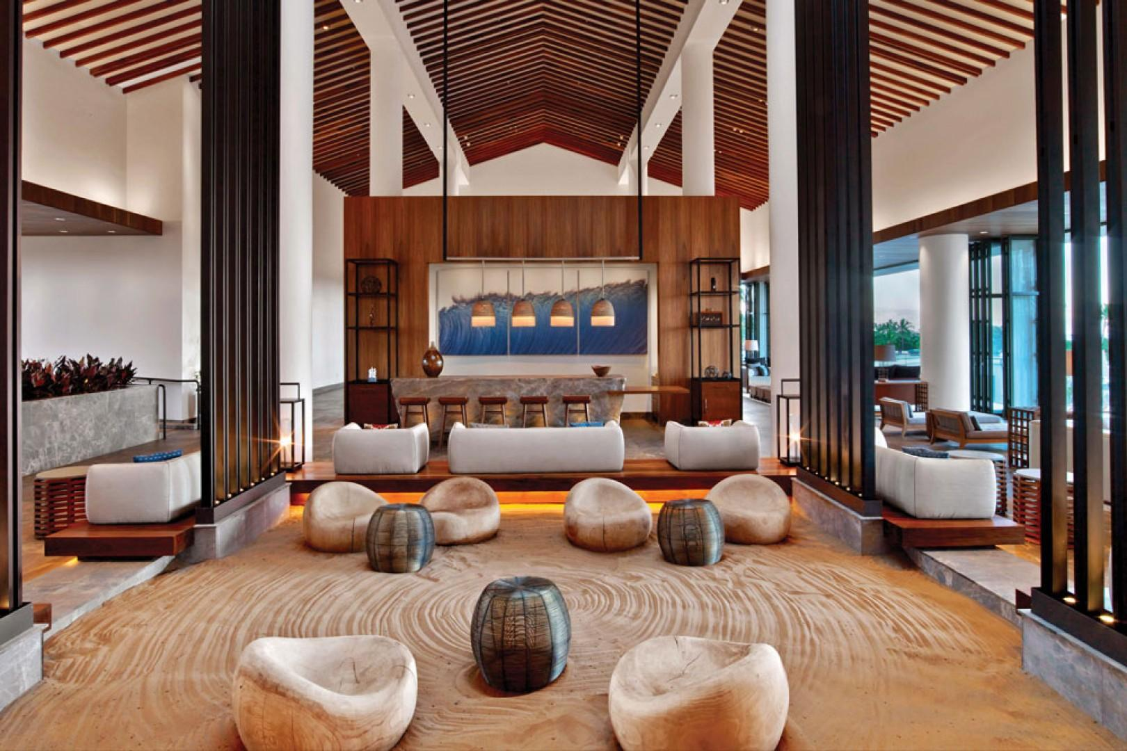 Stunning Zen-Style Andaz Maui Ocean View Lobby Lounge