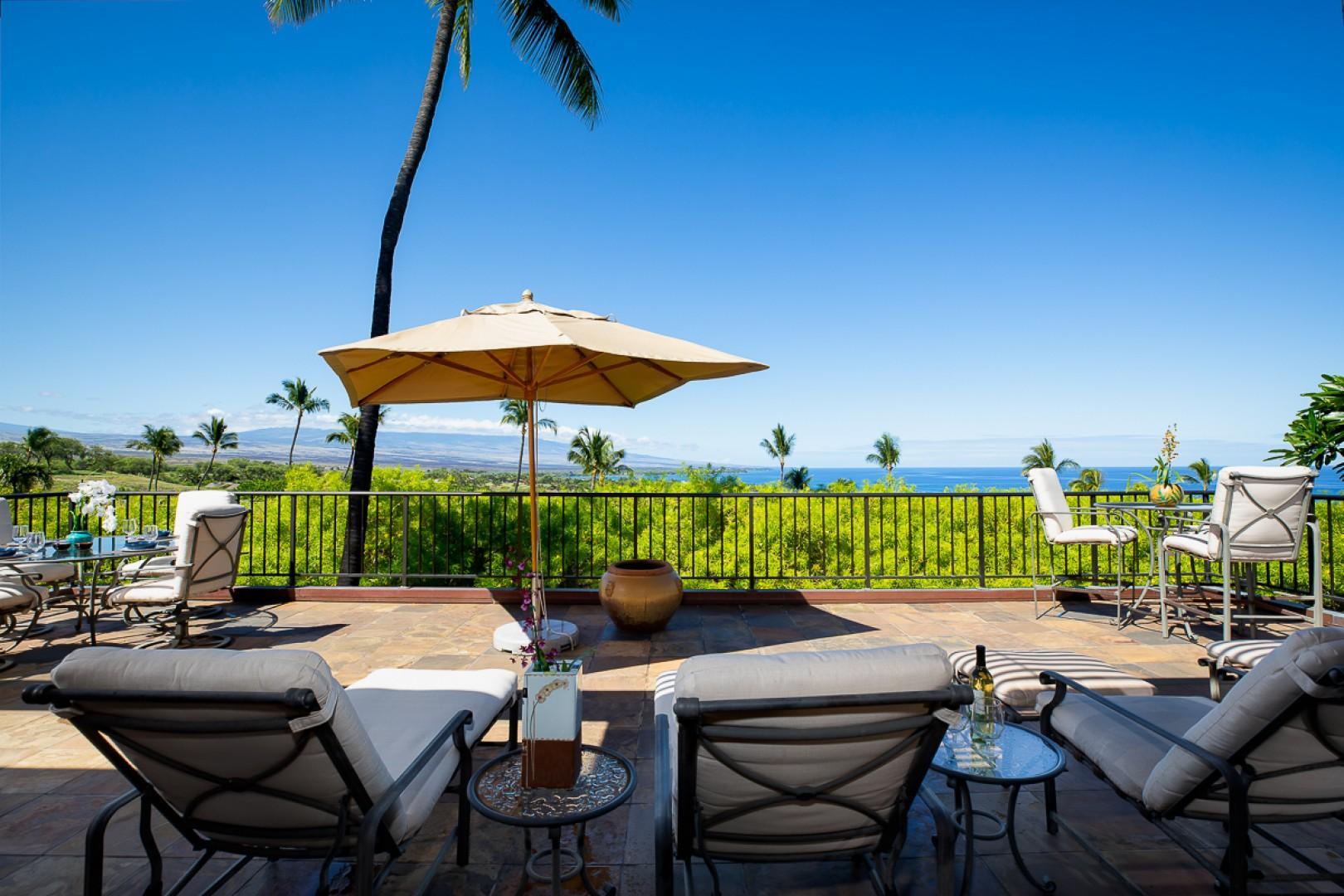 Mauna Kea Villas #13 Lanai overlooking Mauna Kea and Hapuna Beach
